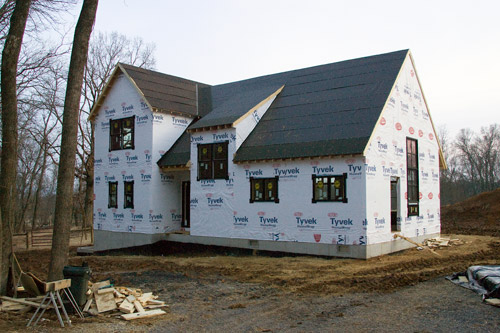 When the siding goes up, it'll be even more wonderful.