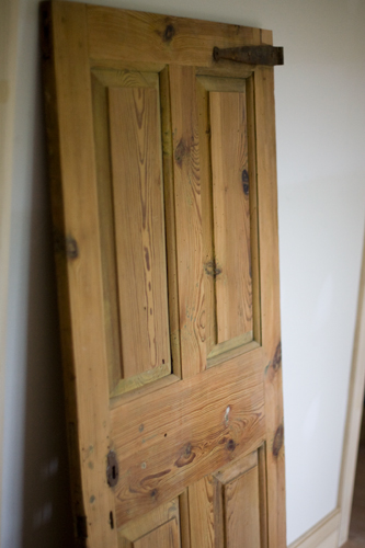 "My ""attic"" door. It's going in the hole above the kitchen."