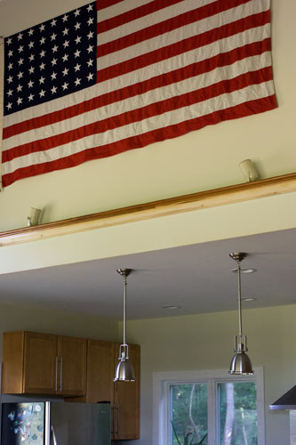 WWI? flag. I was so excited to finally get this baby up in its place of honor!